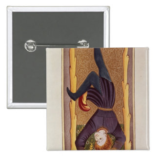 The Hanged Man tarot card French Pinback Buttons