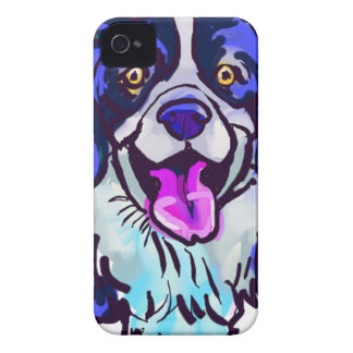 The happy Border Collie Love of My Life iPhone 4 Cover