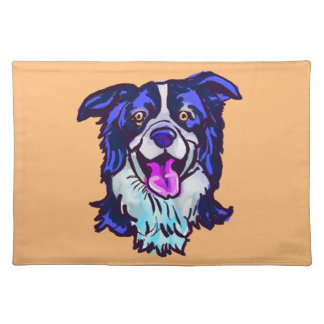 The happy Border Collie Love of My Life Placemat