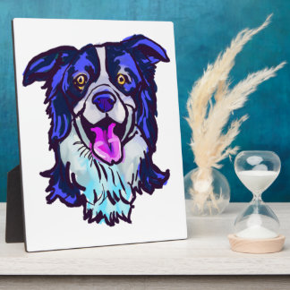 The happy Border Collie Love of My Life Plaque