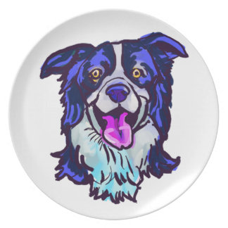 The happy Border Collie Love of My Life Plate
