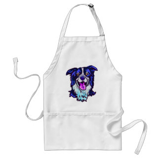 The happy Border Collie Love of My Life Standard Apron