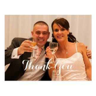 The Happy Couple Wedding Gift Thank You Postcard