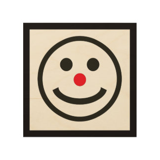 The Happy Face Wood Wall Art