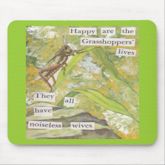 The Happy Grasshoppers Mouse Mat