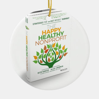 The Happy, Healthy Nonprofit 3D Cover Ceramic Ornament