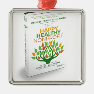 The Happy, Healthy Nonprofit 3D Cover Silver-Colored Square Decoration