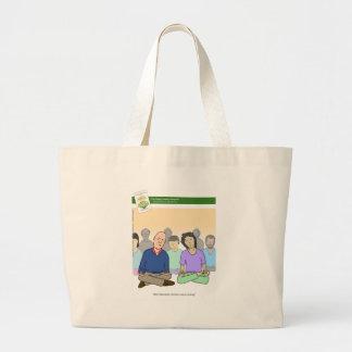 The Happy, Healthy Nonprofit Cartoon Tote Bags