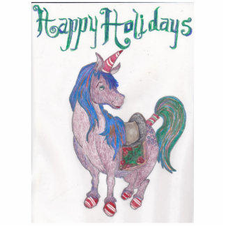 The Happy Holidays Unicorn Photo Sculpture
