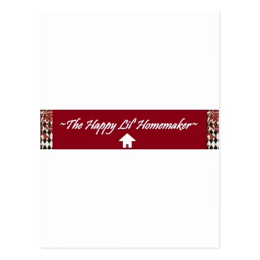 The Happy Lil' Homemaker Postcard