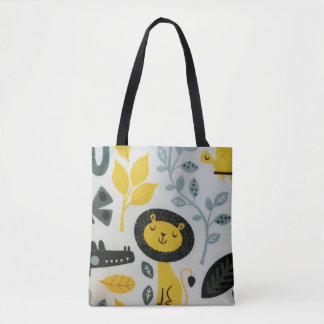 """The Happy Lion"" All-Over-Print Tote Bag"
