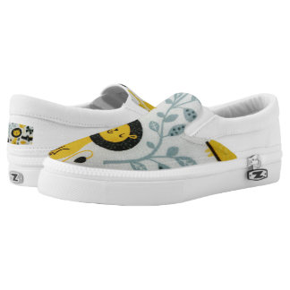 """The Happy Lion"" Zipz Slip On Shoes,  / US Women 6 Printed Shoes"