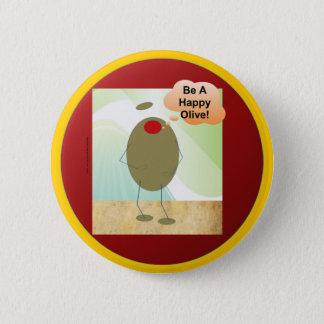 The Happy Olive 6 Cm Round Badge