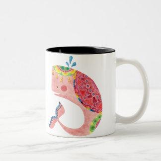 The Happy Whale Two-Tone Coffee Mug
