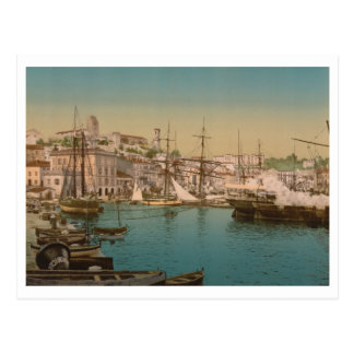 The Harbour at Cannes, France Postcard