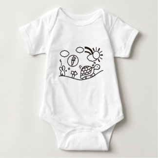 The Hare and the Tortoise Baby Bodysuit