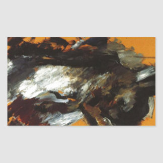 The Hare by Lovis Corinth Rectangular Sticker