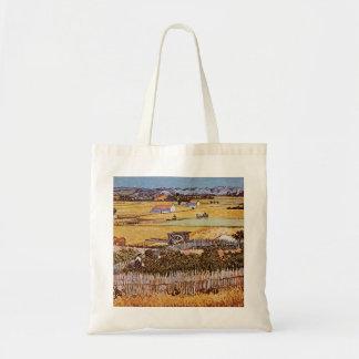 The Harvest by Vincent van Gogh Canvas Bag
