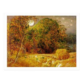 The Harvest Moon, 1833 (oil on paper laid on panel Postcard