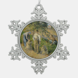 The Harvest, Pontoise Snowflake Pewter Christmas Ornament