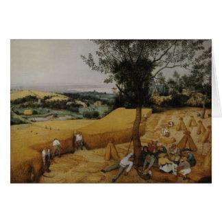 The Harvesters, 1565 - Pieter Bruegel the Elder Card