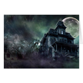 The Haunted House Paranormal Card