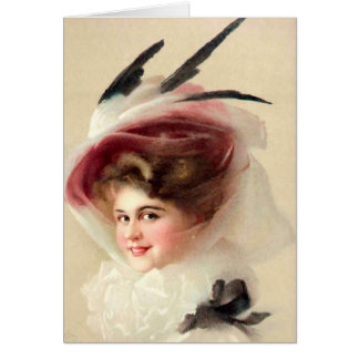 The Hawk Feathered Hat Card