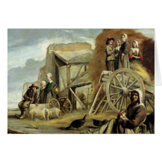 The Haycart, or Return from Haymaking, 1641 Card