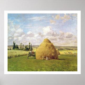 The haystack, Pontoise, 1873 Poster
