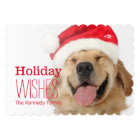 The head and goofy smile of a happy dog card