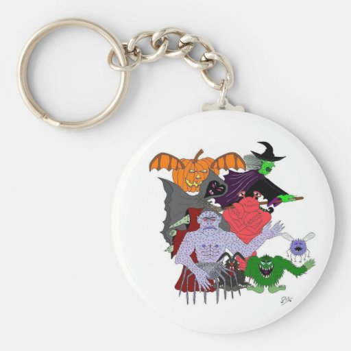 The Head Ghoul and friends Key Chain