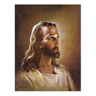 The Head of Christ 1940 by Warner Sallman Postcard