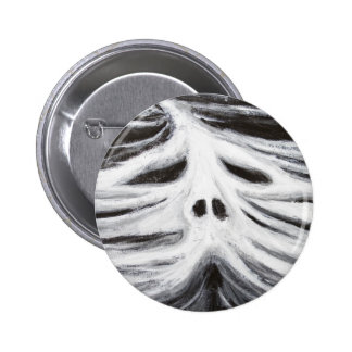 The Head of Leviathan black and white surrealism Button