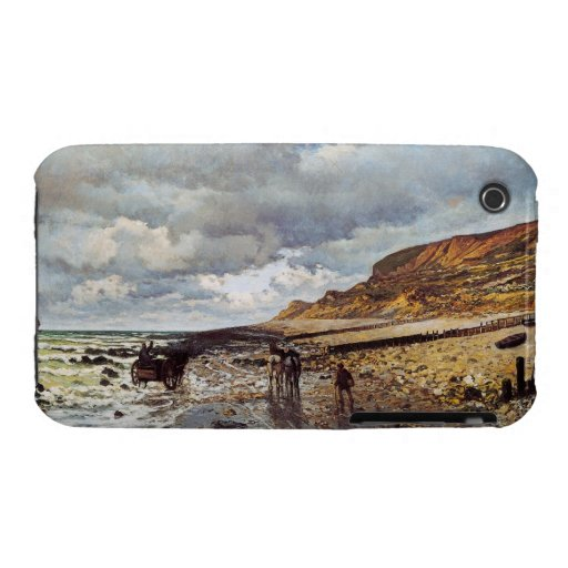 The Headland of the Heve at Low Tide Claude Monet iPhone 3 Covers