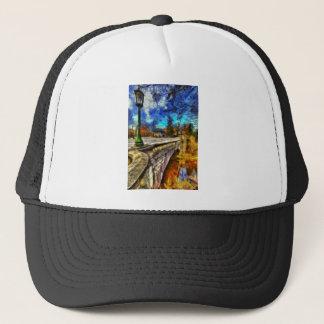 The Headless Horseman Bridge Art Trucker Hat