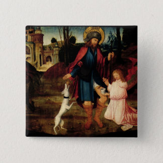 The Healing of Saint Roch 15 Cm Square Badge