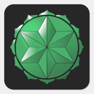 The Heart Chakra Square Sticker
