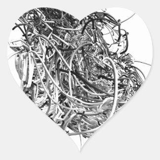The Heart Heart Sticker