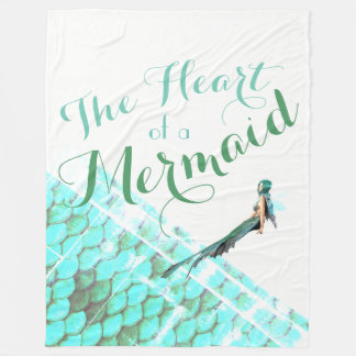 The Heart of a Mermaid Blanket 3 Sizes