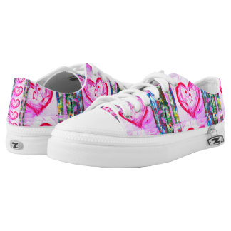 the Heart of abstract Printed Shoes