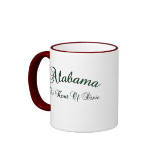 The Heart Of Dixie Alabama Coffee Mug