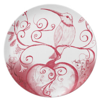 The heart of the hummingbird plate