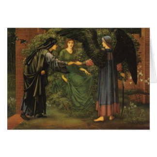 """""""The Heart of the Rose"""", by Edward Burne-Jones Greeting Card"""