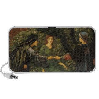 The Heart of the Rose - Edward Burne-Jones Portable Speakers