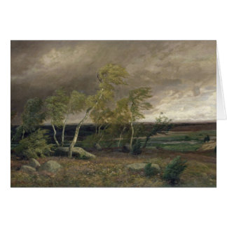 The Heath in a Storm, 1896 Card
