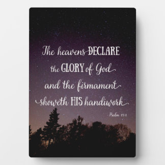 The Heavens Declare the Glory of God Plaque