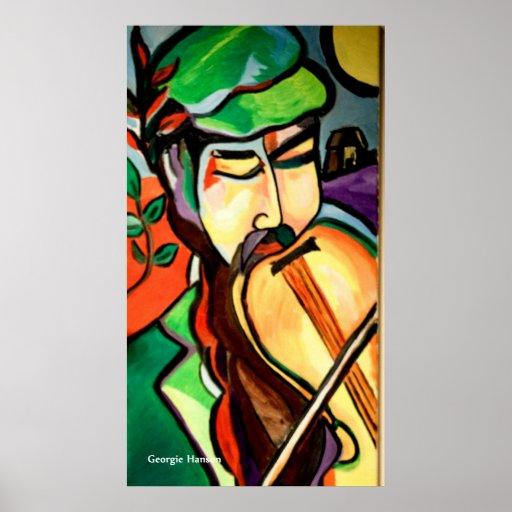 The Hebrew Fiddler by Georgie Hanson Print