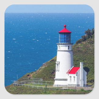 The Heceta Head Lighthouse Near Florence Square Sticker