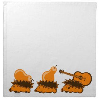 The Hedgehog Gang Napkin