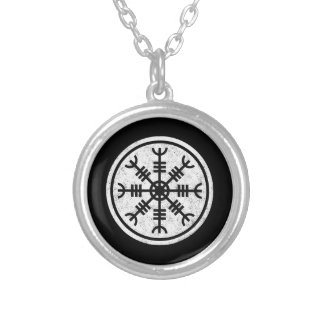 The Helm Of Awe Vikings Silver Plated Necklace